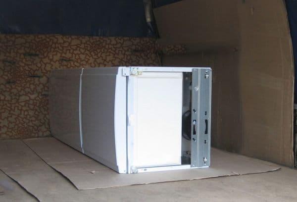 Горизонтальная транспортировка холодильника