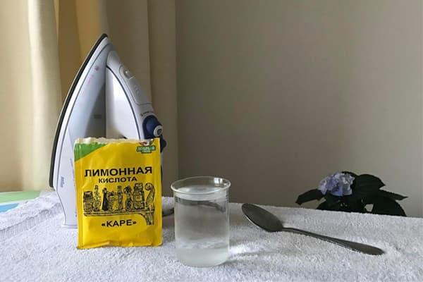 Лимонная кислота для чистки утюга