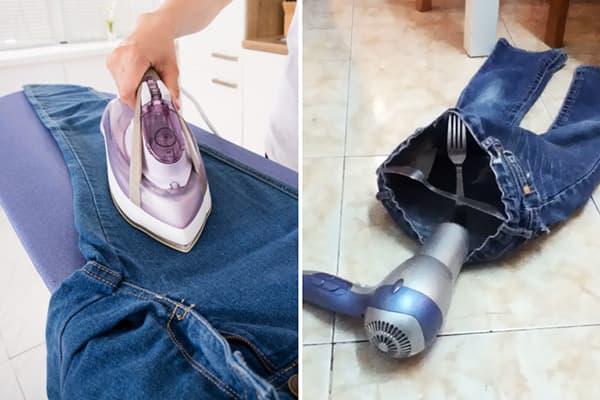Сушка джинсов подручными спососбами