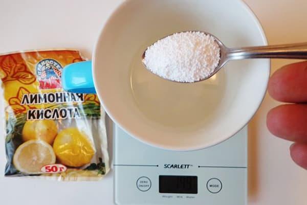 Использование лимонной кислоты на кухне