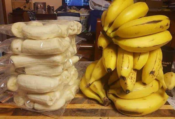заморозка бананов целиком