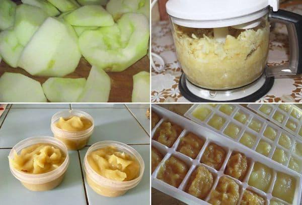 Заморозка яблочного пюре
