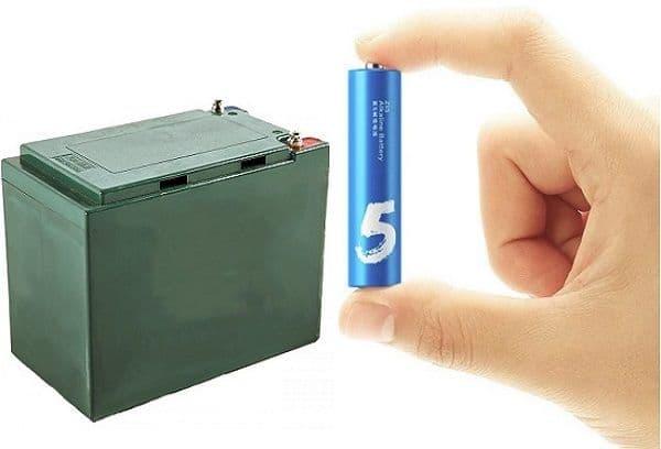 Батарейка и аккумулятор