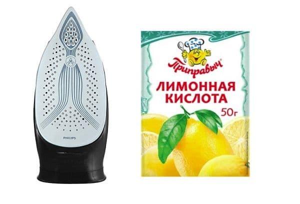 Лимонная кислота и утюг