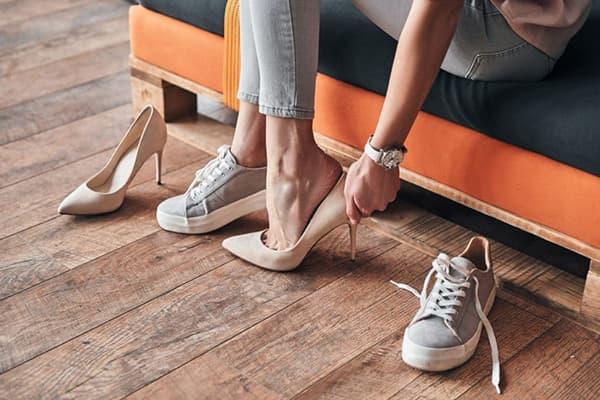 Разнашивание новой обуви