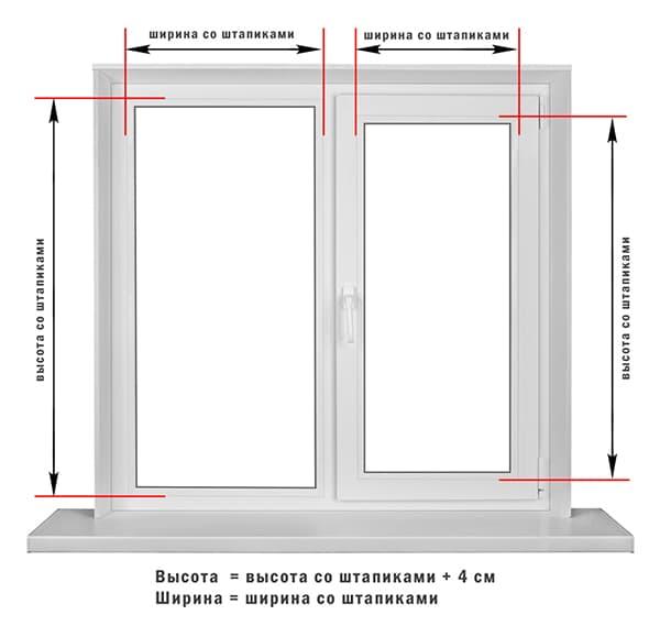 Замеры окна перед креплением жалюзи
