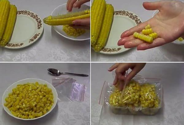 Заморозка зерен кукурузы