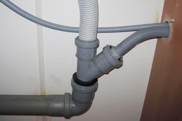 Слив воды от стиральной машины через сифон