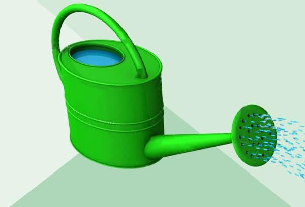 поливать холодной водой