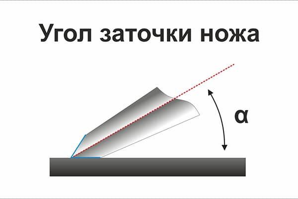 Стандартный угол заточки ножа