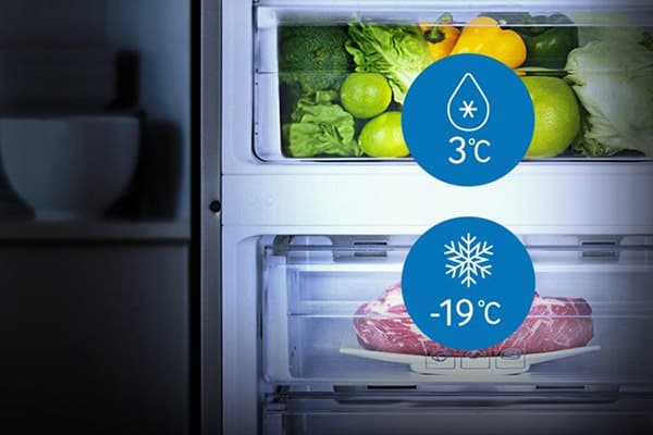 Разница температур в холодильнике и морозилке