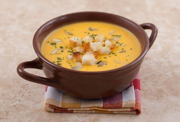 Суп-пюре из замороженной тыквы