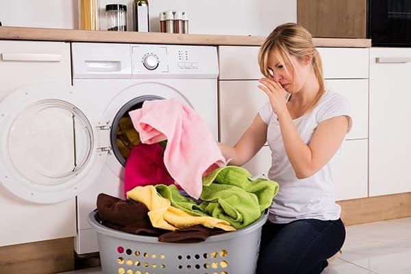 Грязные полотенца перед стиркой