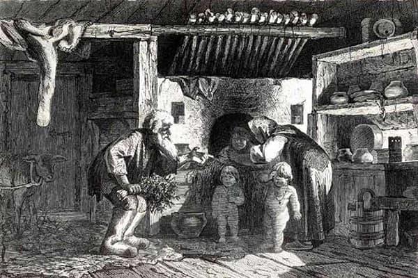 Быт крестьян в избе