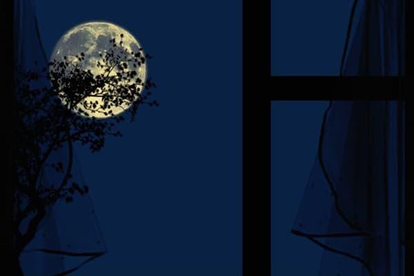 Полная луна за окном