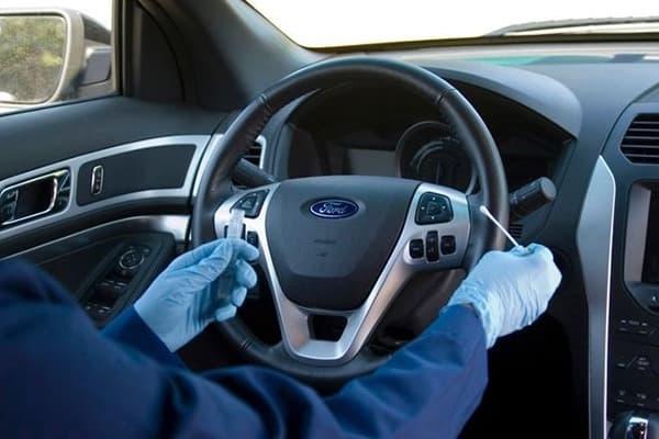 Проверка руля авто на наличие микробов