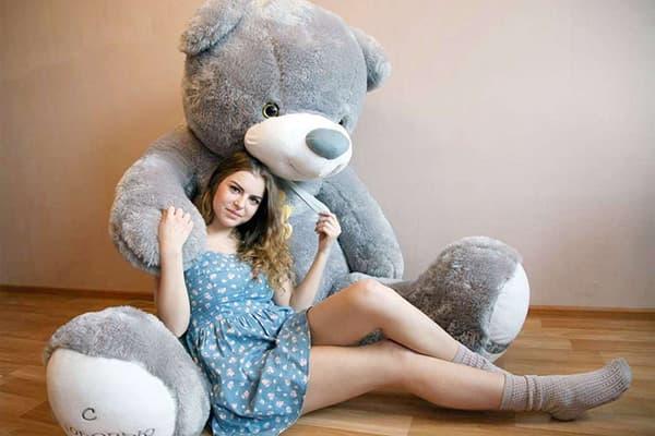 Огромная мягкая игрушка - медведь