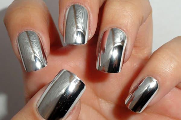 """Дизайн ногтей """"металлик"""" листовой фольгой"""