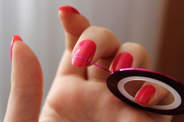 Скотч-лента для дизайна ногтей