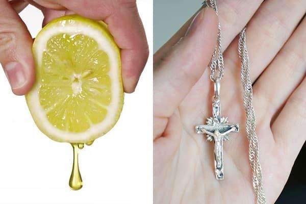 Лимонный сок для чистки серебра