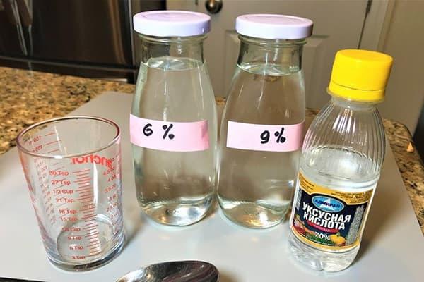 Раствор уксусной кислоты 6% и 9%