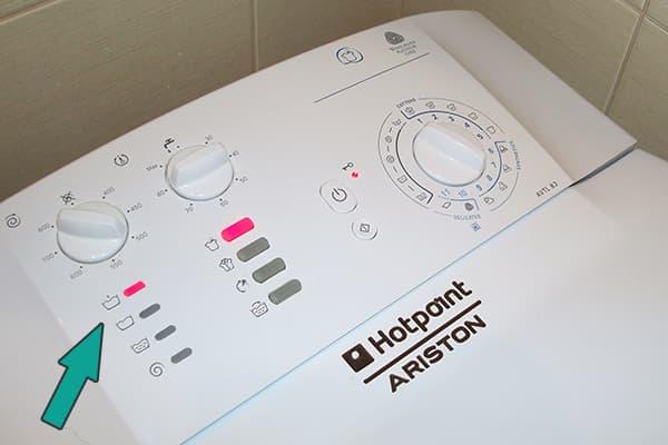 Индикатор предварительной стирки на панели стиральной машины
