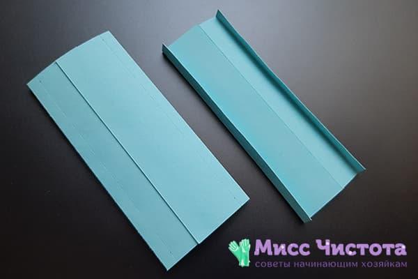 Бумажный модуль с загнутыми краями