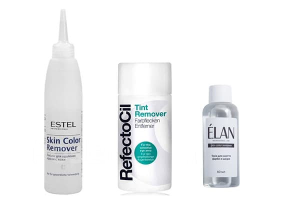 Профессиональные средства для удаления краски с кожи
