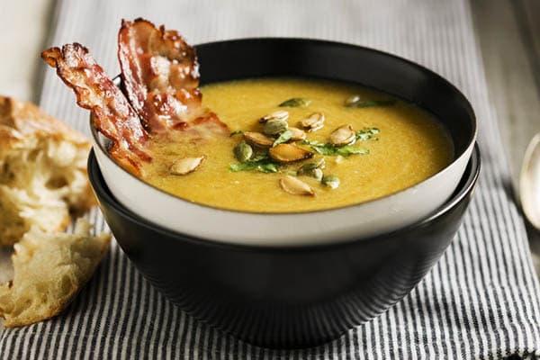 Суп-пюре с беконом