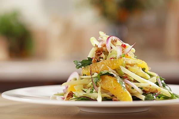 Салат с рукколой и апельсинами
