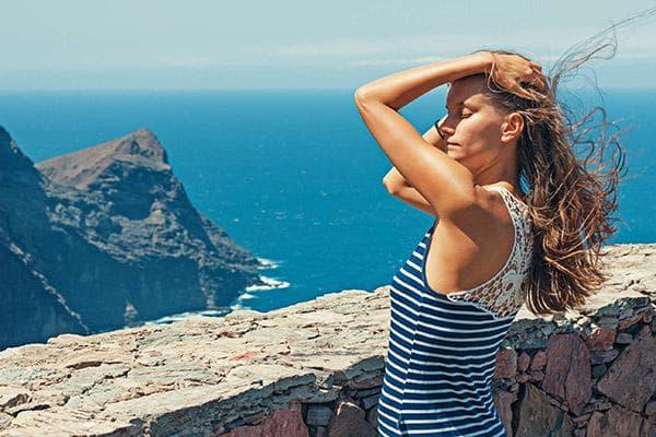 Женщина в отпуске