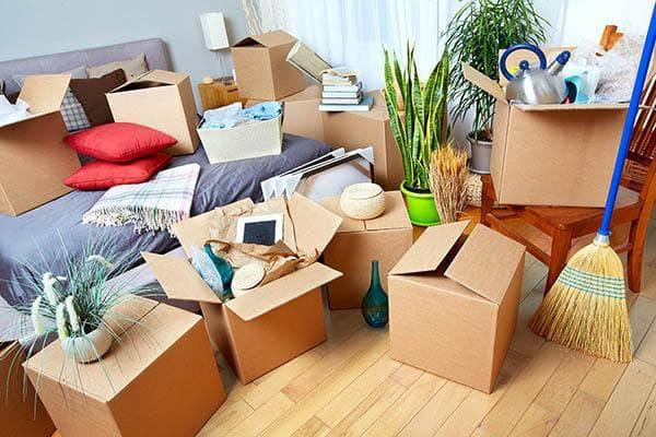 Ненужные вещи в коробках