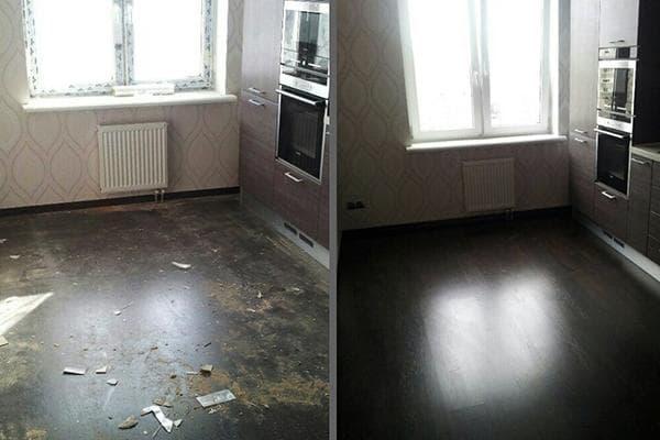 Квартира до и после клининга