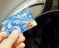 Банковская карта после стирки в машинке