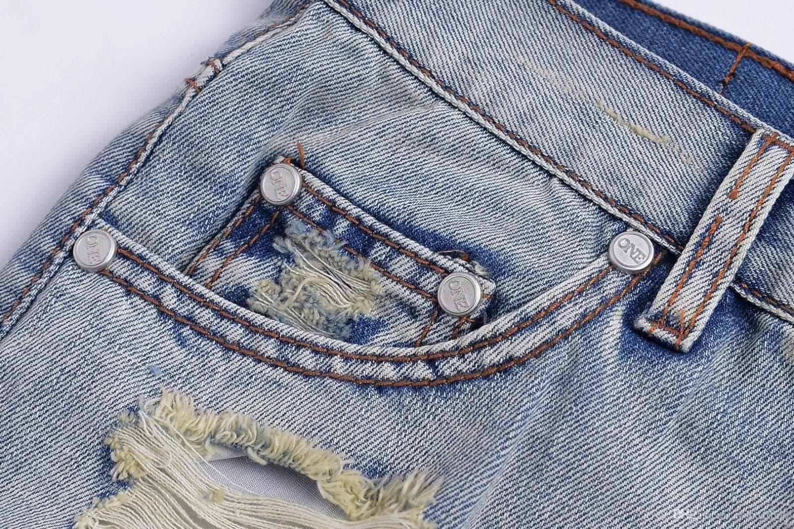 Хольнитены на джинсах