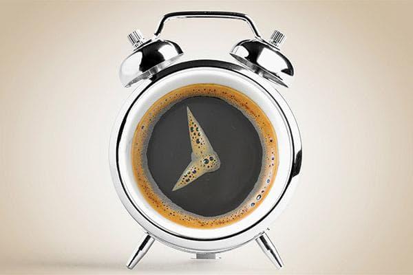 Будильник в виде чашки кофе