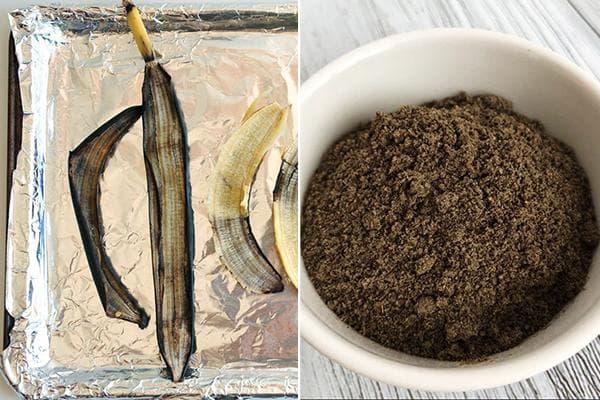 Порошок из высушенных банановых шкурок