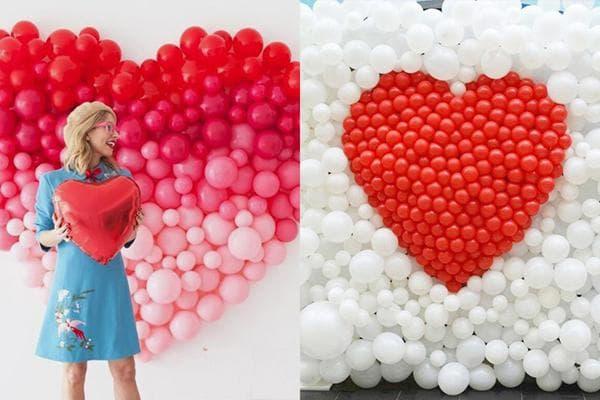 Щиты из воздушных шариков к 14 февраля