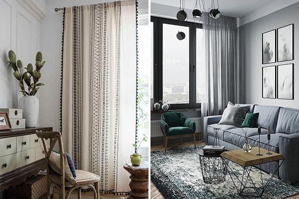 Полупрозрачные шторы в интерьере