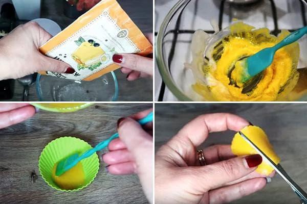 Изготовление желатиновых патчей с куркумой под глаза