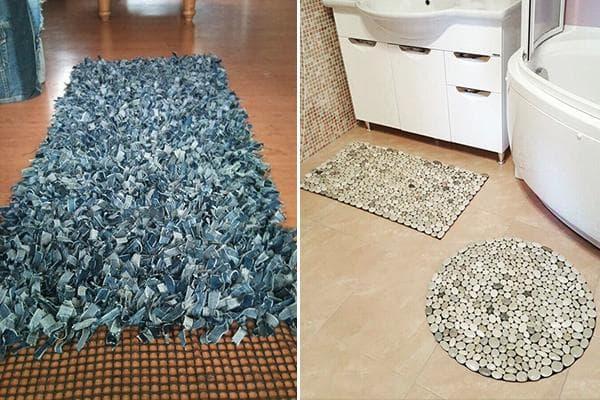 Самодельные коврики для ванной