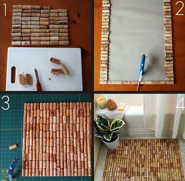 Изготовление пробкового коврика