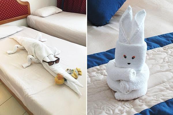 Фигурки из полотенец в отелях