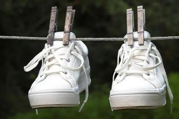Сушка спортивной обуви после стирки