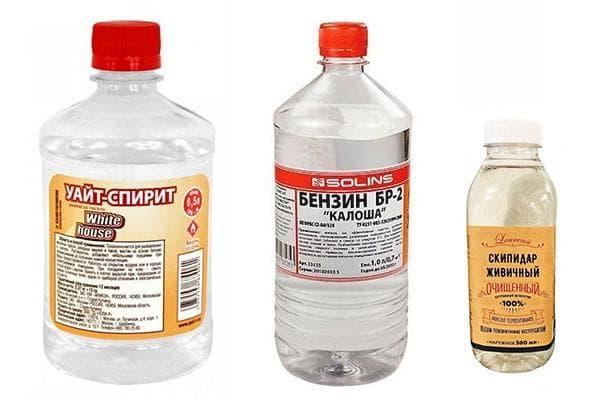 Уайт-спирит, бензин, скипидар