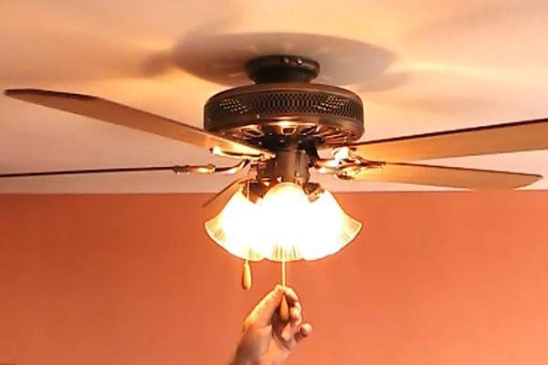 5. Вентилятор под потолком