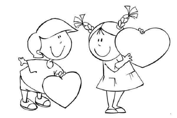 Картинка для росписи пряников к 14 февраля