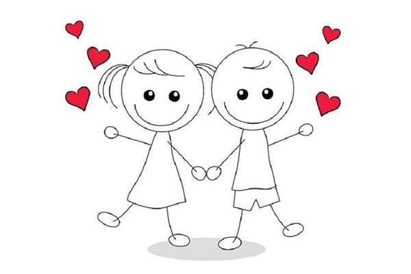 Картинка - влюбленные мальчик и девочка