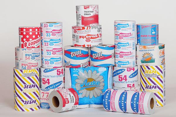 Разные виды туалетной бумаги