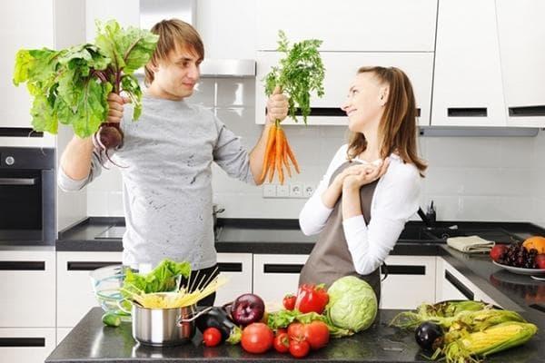 Вегетарианцы с запасом продуктов